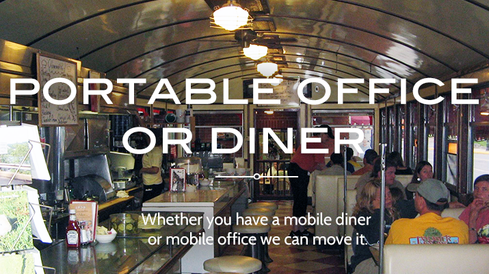 Roberson Mobile Home Movers can help you move your portable office, portable classroom or portable diner